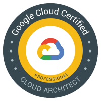 Google Cloud Certified Professional Cloud Architect badge