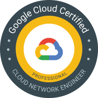 Google Cloud Certified Professional Cloud Network Engineer badge
