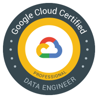 Google Cloud Certified Professional Data Engineer badge